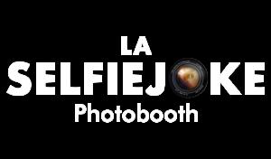 logo selfiejoke blanc photobooth