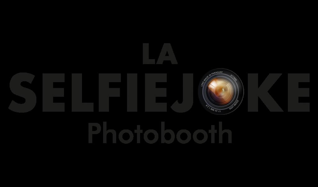 logo selfiejoke noir photobooth